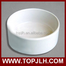 Factory wholesale custom ceramic dog bowl round ceramic pet bowl