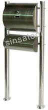 High quality 304 Stainless Steel Postbox With Newspaper Holder for Germany