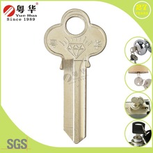 Types of Universal door key blanks Manufacture, Brass blank House key locksmith tools