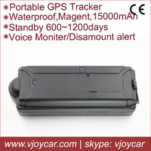 SD GPS data logger wifi gps tracker long battery life with 15000mAh rechargeable battery