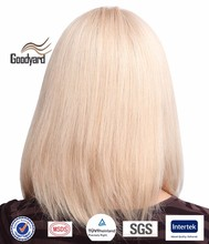 hotselling natural looking fashion blonde synthetic hair wig for white women