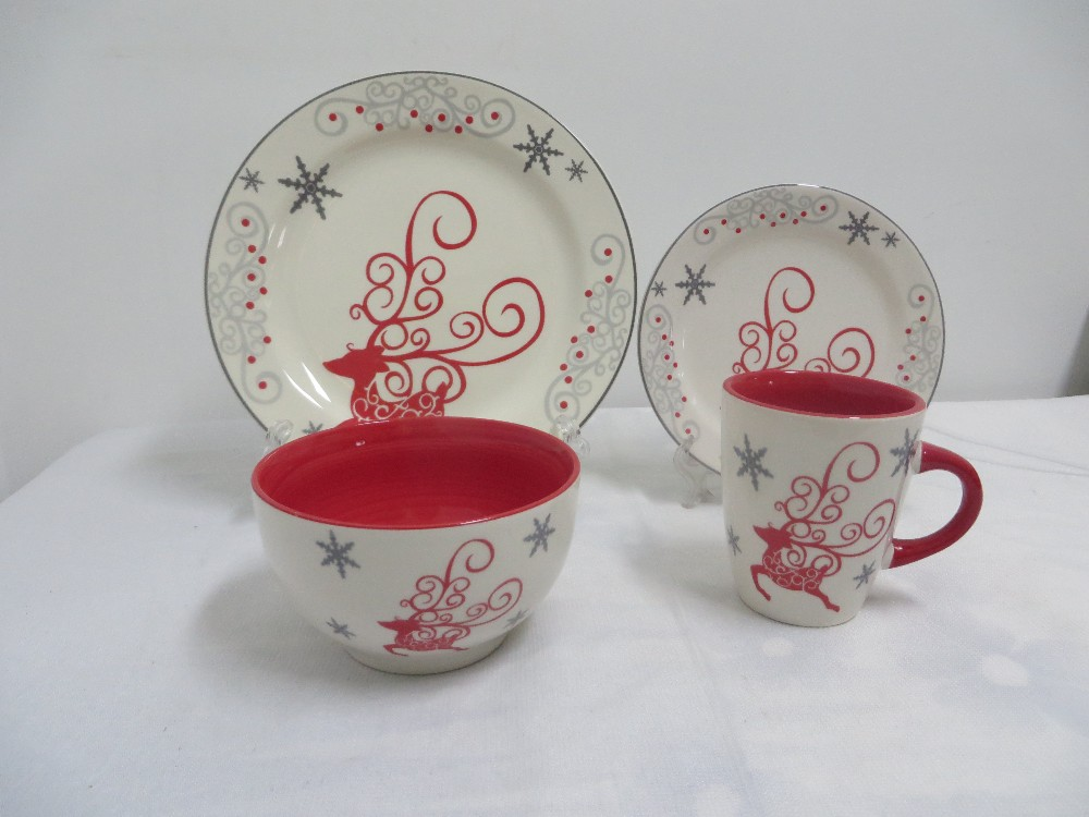 Ceramic stoneware decal dinnerware non-stick dinner set made in china