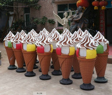 FRP ice cream figure with LED light decoration