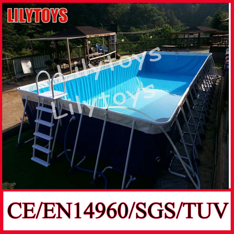 Cheap Price Customized CE,EN71,EN14960 certifications 0.9mm PVC 12X36 Intex Metal Frame Pool