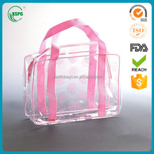 Promotional clear tote pvc shopping bag