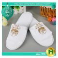 Coral Velvet Hotel Slippers / Cheap Breathable Open-toe Velour Guestroom Slippers / Washable Summer Light Indoor Slippers