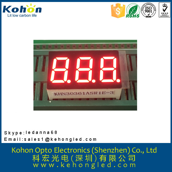 0.36 inch 3 digital seven segment meters fonts led display various color