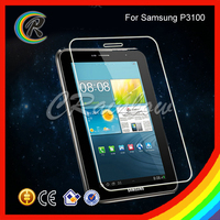 New arrival Anti-shock for Samsung Galaxy Tab 2 P3100 tempered glass screen guard