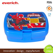 New Fancy thermo print BPA free plastic lunch box for kids