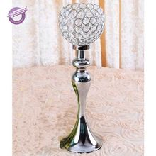 ZT00410 cheap silver table wedding crystal light centerpieces candle holder for wholesale