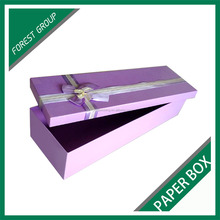 BEAUTIFUL DESIGN CHIPBOARD BIRTHDAY GIFTS PACKING BOX WITH CUSTOM RIBBONS