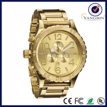 Best selling high quality steel band 18k gold watch