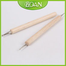 BQAN Original Wood Double End or Single Side Nail Dotting Tool Kit Nail Art