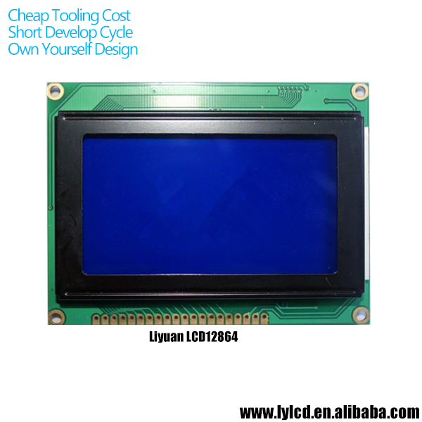 custom ks0108 compatible LCD 128x64 for sale