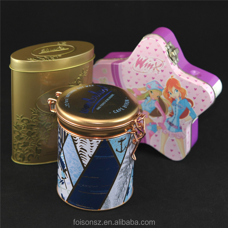 High quality cookie metal tin box with handle zipper heart shape hinged lids food grade tins boxes baking unbreakable lunch-box