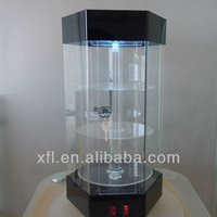 floor standing acrylic rotating display / show case with lock