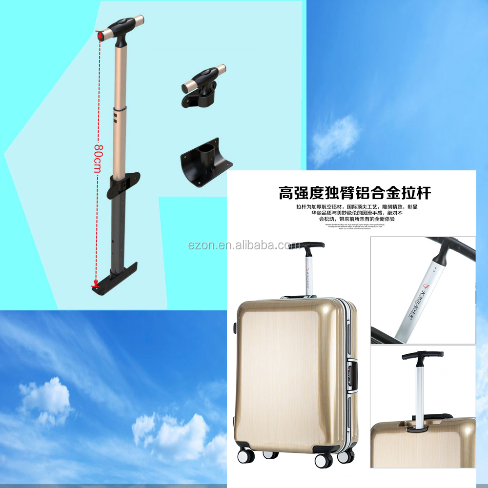 high strength single aluminum telescopic 3-4 section brief luggage case trolley handle