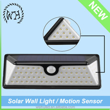 Commart Solar Powered Wall Mount LED Light Outdoor solar lights for garden Path Landscape Fence Yard Lamp batteries for solar st