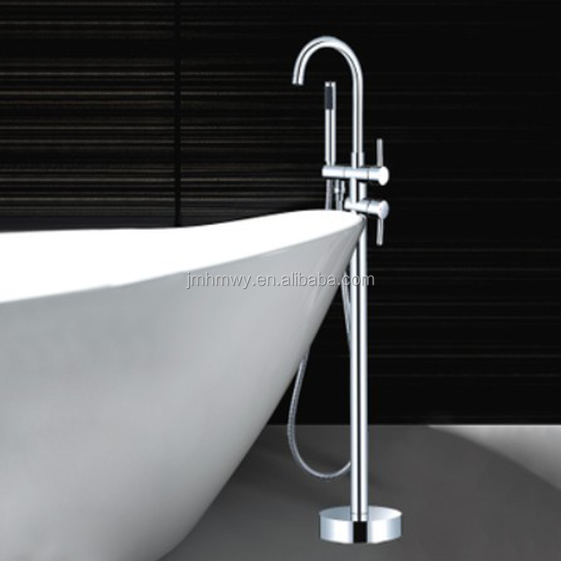 New Modern Floor standing Mount Bathroom Bath Tub Filter Faucet with the Handshower HM-8537