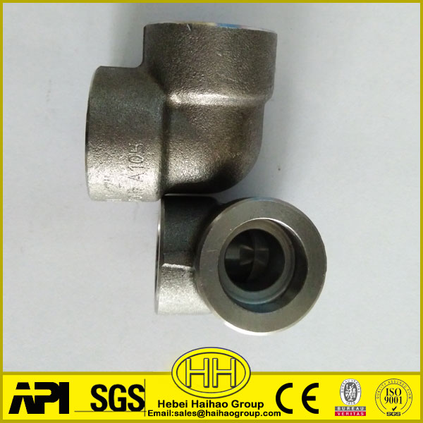 Haihao ASTM A105 1/2 inch 3000LBS Stainless Steel Socket Weld 90 Degree Pipe Elbows