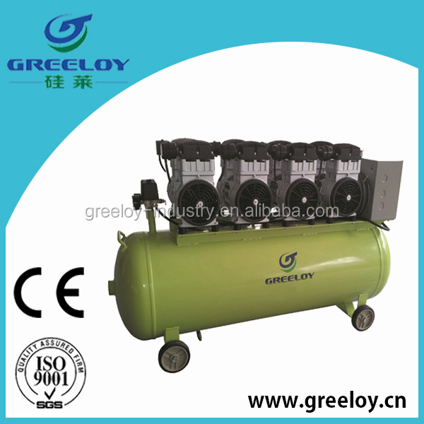 piston oil free motor air compressor 200l tank for light industry