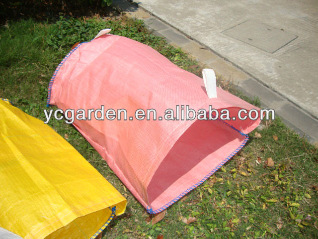 pink PP garden waste bag