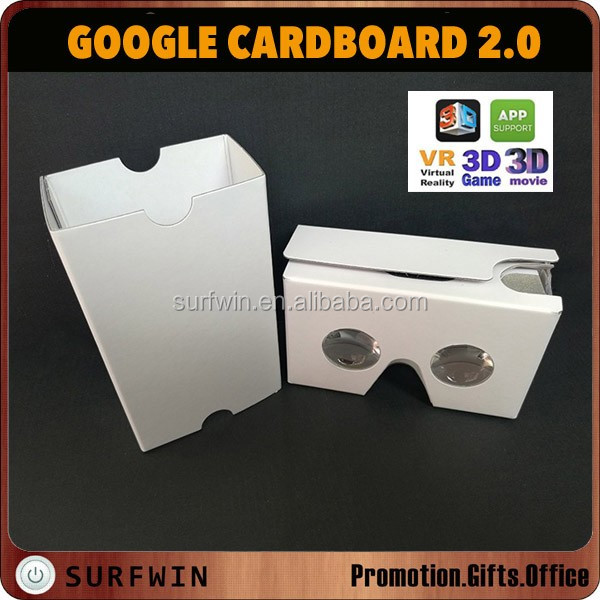 CUSTOM printing google cardboard 2.0 virtual reality glasses for cell phone