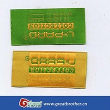 custom woven hem tag / high density woven badge for garments