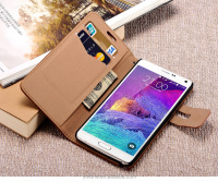 flip case cover flip wallet case for samsung galaxy note 4 / back cover case for samsung galaxy note 4