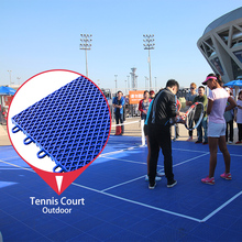 High strength pp plastic waterproof interlock tiles portable tennis court sports flooring