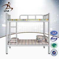 Chinese manufacturer high quality metal bunk bed for sale / double size bunk bed