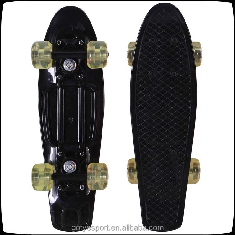 2015 new custom black mini cruiser fish skateboard