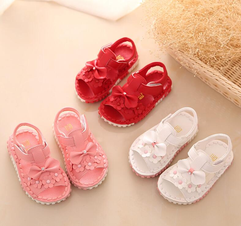 zm10168a 2016 children flower sandals shoes new baby shoes