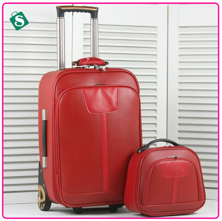 trolley luggage with suitcase,2 piece luggage sets travel luggage bag password box women travel suitcase case