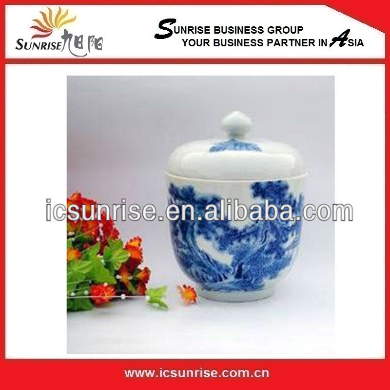 Small Blue and White Custom Painting Vases