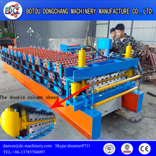 China manufacturer building material trapezoidal and corrugated roofing tiles forming machine rolling press for roof sheet