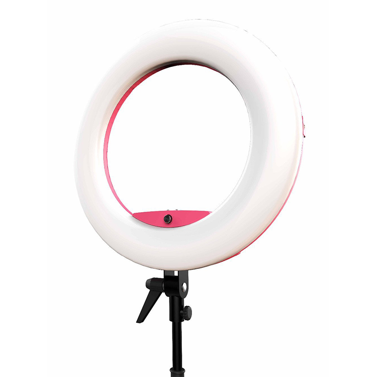 "FD-480II 17.7"" LED Ring Light 96W Dimmable 3200-5500K LED Lamp Video Light with 2m Light stand Smartphone Holder 1/4"" Adapter"