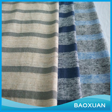 TC polyester cotton knit stripe single jersey fabric for shirt TC single jersey fabric for dress
