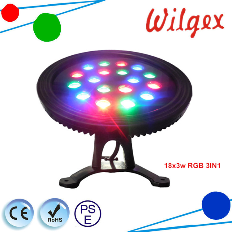 18*3W IP68 High Power RGB LED Pool underwater light