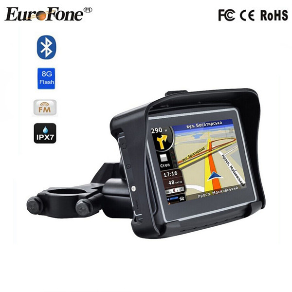Waterproof IPX7 motorcycle gps navigator / gps navigation system world map