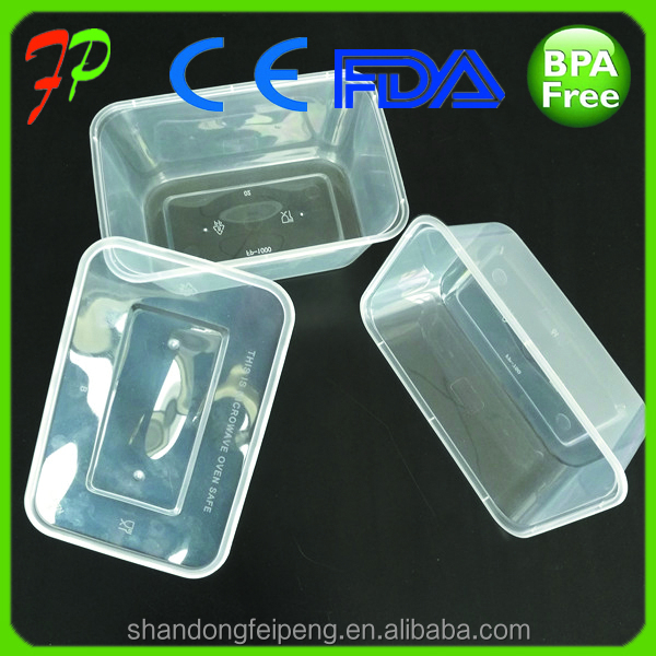 Clear plastic bento box disposable