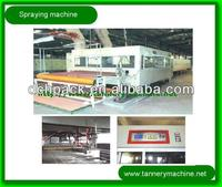 chrome spray machine for leather spraying in china