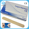 Disposable sterile wooden tongue depressor for medical use