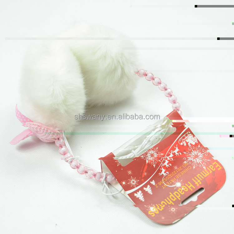Pearl winter earmuffs with headphone