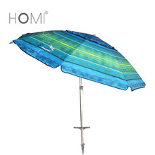 Huge Outdoor Red Beach Umbrella with Tilt and Telescoping Pole