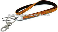 Rhintstone Bling Lanyard with Metal Key Ring and Lobster Clasp Attachments