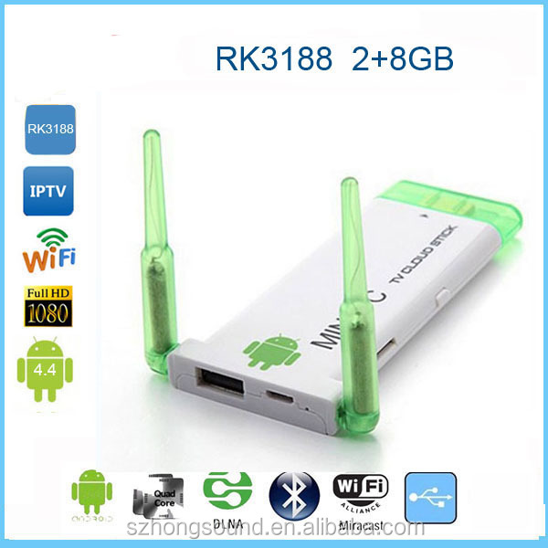 2016 RK3188 Android 4.2.2 TV Box, Dual Antenna Strong Wifi Mini PC Quad Core,2GB DDR3 8/16GB Memory