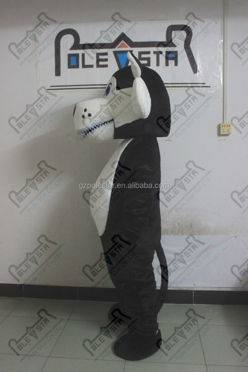 plush materials wolf mascot costumes hot sale EVA head quality wolf costumes