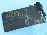 2014 custom paper hang tag for basketball shoes made in Guangzhou