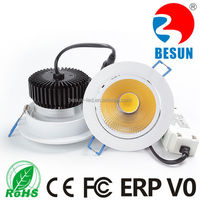 BESUN hot sell! Round recessed shop led downlight 6w/10w 80mm diameter